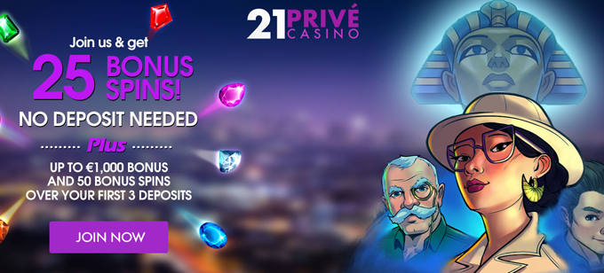 21 Prive Casino No Wagering Requirements