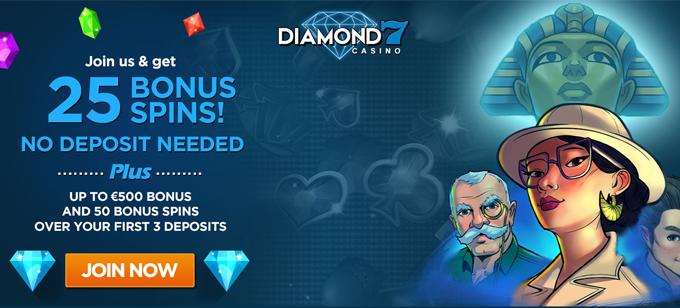 Diamond 7 25 Bonus No Deposit Low Wagering No Wagering Requirements