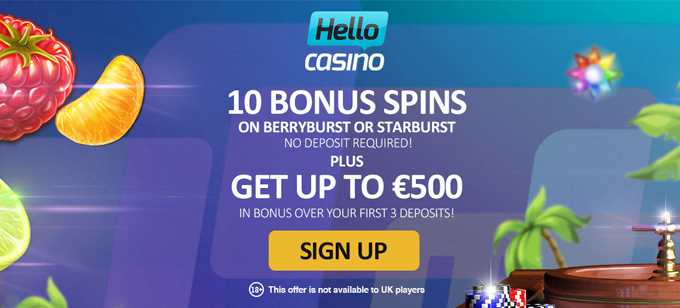 Hello Casino No Wagering Requirements