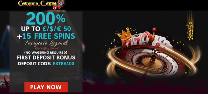 Conquer Casino No Wagering Requirements